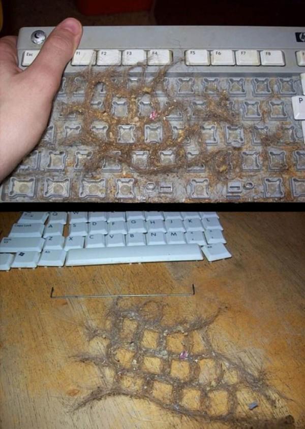 грязные клавиатуры
