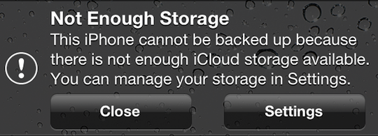 NotEnoughiCloudStorage