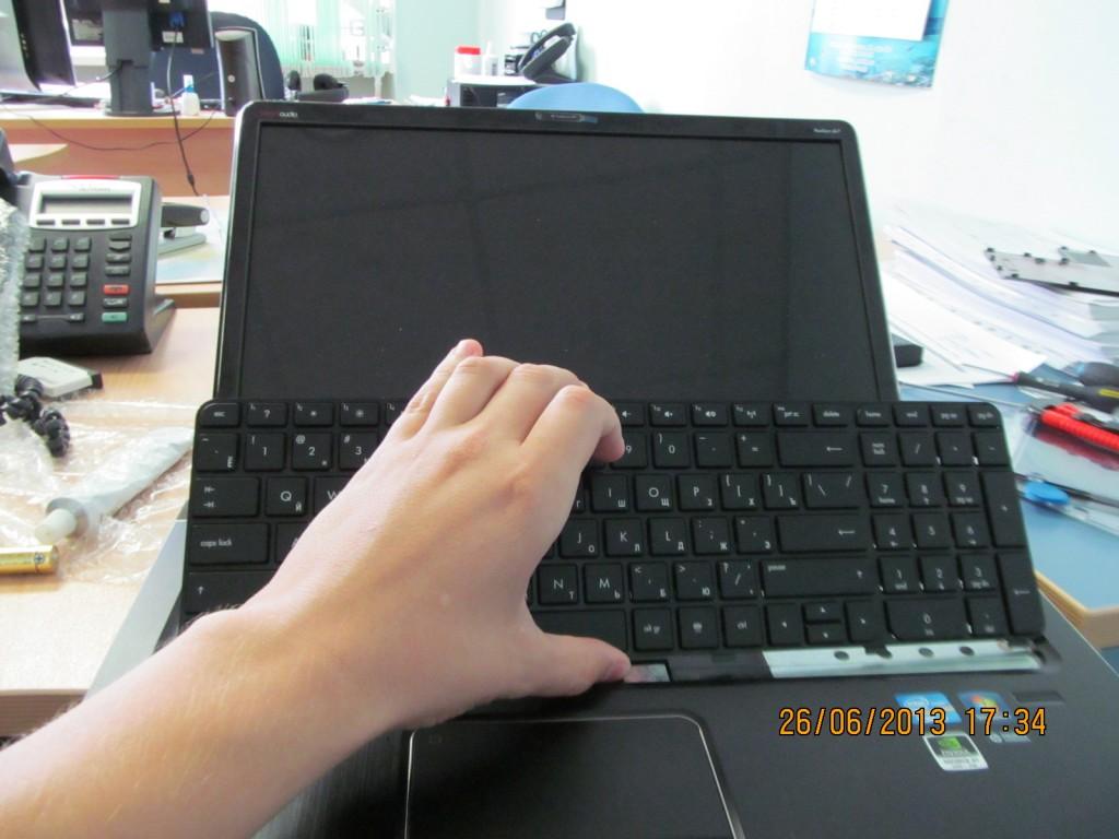 Снятая клавиатура hp pavilion dv7 7006er